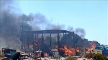 הצתות בשומרון ובנימין: ערבים הציתו שריפות בשתי חוות