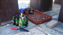 עשרות בקבוקי תבערה וארגז לשיגור זיקוקים נמצאו במתחם חינוכי בלוד