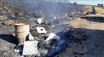 64 כוורות שהכילו כטון וחצי דבש נשרפו כליל
