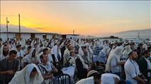 צפו: אלפים השתתפו בתפילה חגיגית באביתר שבשומרון