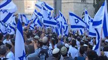 """אלפים בריקוד הדגלים בירושלים: """"ירושלים מאוחדת לעד"""""""