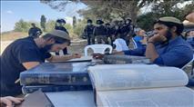 """כוחות מג""""ב ומשטרה הרסו את הישיבה בחומש"""