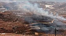 שריפה שהציתו ערבים מהכפר עוריף - מתפשטת כעת לעבר בתי קומי אורי