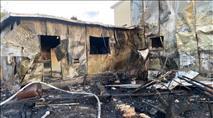 גוש עציון: אב משפחה חילץ את אשתו וילדיו מביתם הנשרף