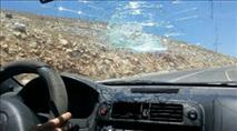 בנימין: נהג משאית נפצע מאבנים שיידו ערבים