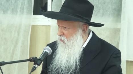 הרב יצחק גינזבורג (צילום מסך)