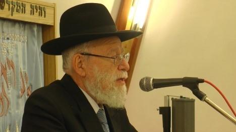 הרב דב ליאור (יהודה פרל) צילום: יהודה פרל