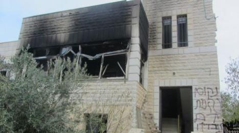 יהודים הציתו בית ערבי בבנימין