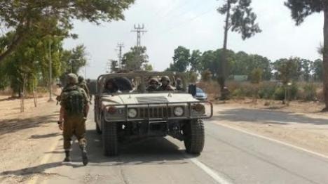"""גבול עזה: ערבים ירו לעבר כוח צה""""ל"""