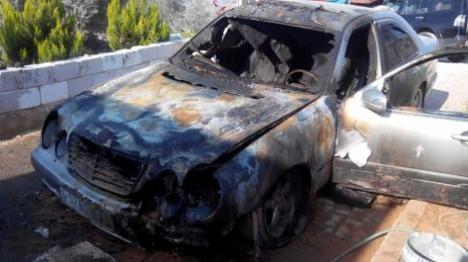 תגובה לטרור? רכב ערבי הוצת