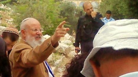 הרב יואל אליצור בהר הבית (ארכיון)