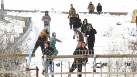 טרור בשלג: עשרה מוקדי התפרעויות