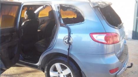 """""""תג מחיר"""" באל מועייר: שני כלי רכב הוצתו"""
