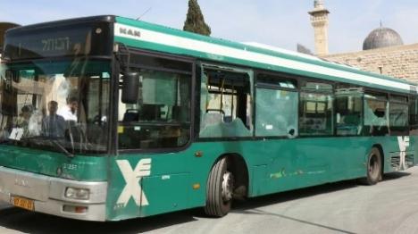 אוטובוס שהותקף בידי ערבים בירושלים. ארכיון הלל מאיר TPS