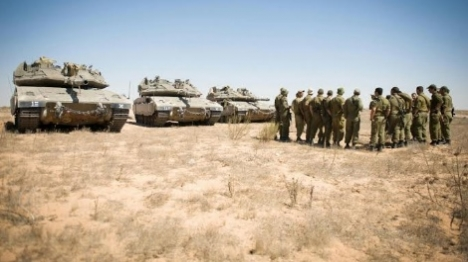 כוחות צהל בגבול רצועת עזה (דובר צהל)