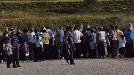 תושבי בית אל הפגינו נגד פתיחת הכביש