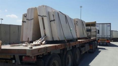 המשאית שנתפסה עם האלקטרודות המוסלקות (דוברות מתפש)