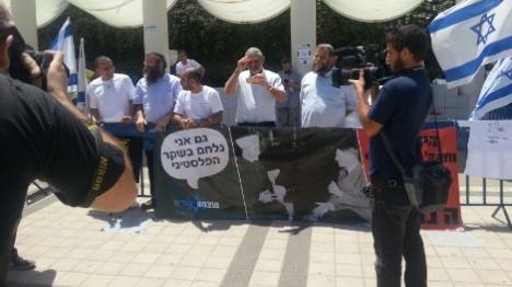 תל אביב: מפגיני ימין מול מפגיני שמאל