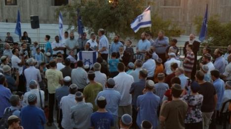 מאות מפגינים בבית אל נגד הריסת המבנים