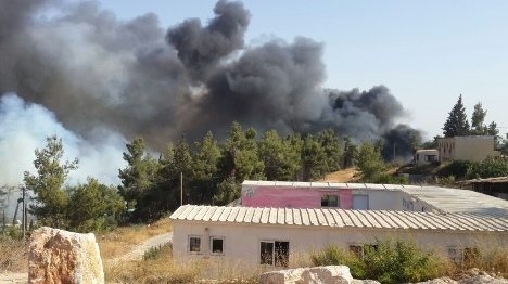 שריפות השתוללו בשומרון ובגוש עציון