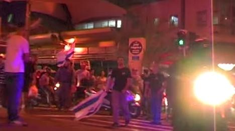 הפגנה כנגד המסתננים בתל אביב. ארכיון (יהודה פרל)