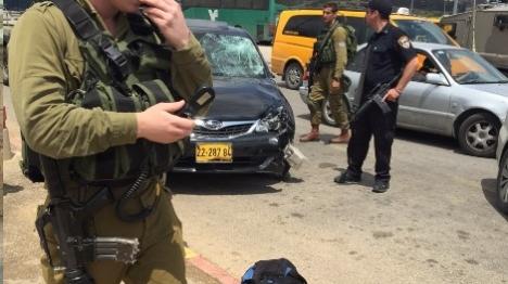 פיגוע דריסה בבנימין: שוטר נפצע קל