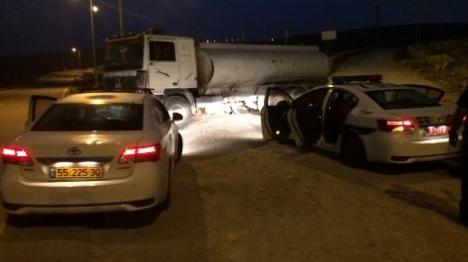 נהג המשאית נתפס ללא רישיון ובפסילה