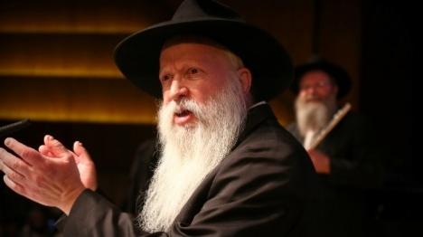 הרב גינזבורג בהתוועדות (עזרא לנדאו) צילום: עזרא לנדאו