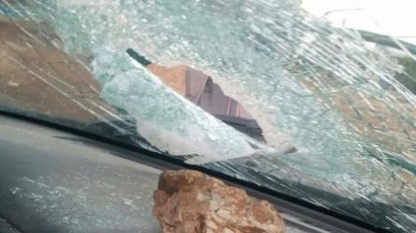 שפרעם: נהג אוטובוס נפצע מאבנים