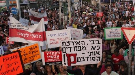 הפגנה בשכונת התקווה נגד המסתננים (קול ההר)  (קול ההר)