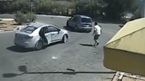 תיעוד: כך נשדד הרכב בשומרון