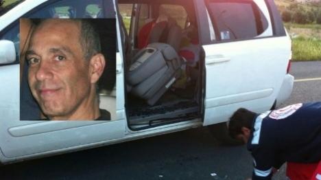 """ברוך מזרחי הי""""ד על רקע רכבו צילום: הצלה יו""""ש ובאדיבות המשפחה"""