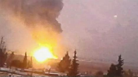 הפצצה בסוריה. ארכיון הפצצה בסוריה. ארכיון (צילום מסך)