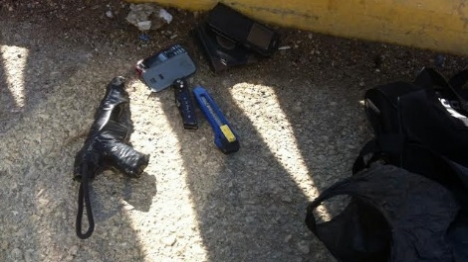 ערבים נתפסו עם מטענים ואקדח בשומרון