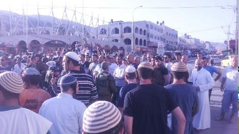 עשרות יהודים הפגינו בחווארה - ערבים התפרעו