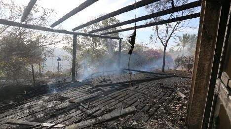 בית שנשרף היום בטלמון (הלל מאיר TPS)