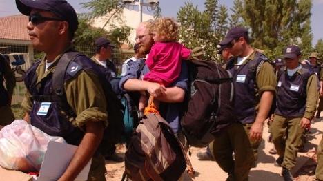 """גירוש יהודי גוש קטיף צילום: דובר צה""""ל"""