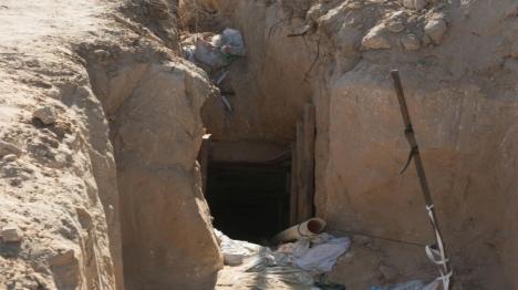 שני מחבלים נהרגו במנהרה שקרסה