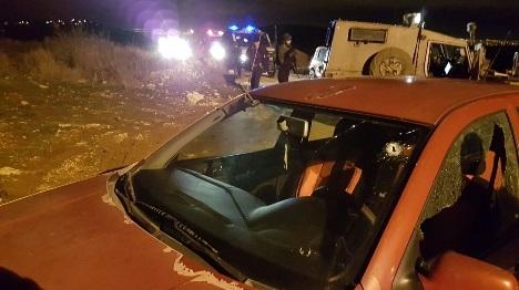 נוסע נפצע בפיגוע ירי בבנימין
