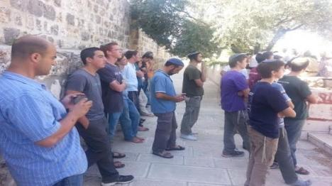 הר הבית: שבעה יהודים השתחוו ונעצרו