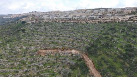 אחת הדרכים שפרצו הערבים סמוך ללשם (תנועת רגבים)