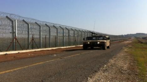 """גבול סוריה צילום: דובר צה""""ל"""