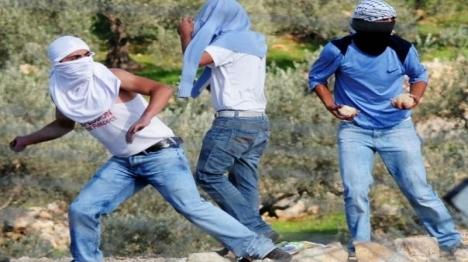 """ערבים מיידים אבנים. ארכיון (צילום: דובר צה""""ל)"""