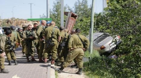 זירת פיגוע הדריסה שביצע מאלכ חאמד (צילום: הלל מאיר סוכנות TPS)