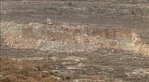 """הדו""""ח מתעד: עשרות מחצבות בלתי חוקיות ברחבי יהודה ושומרון"""