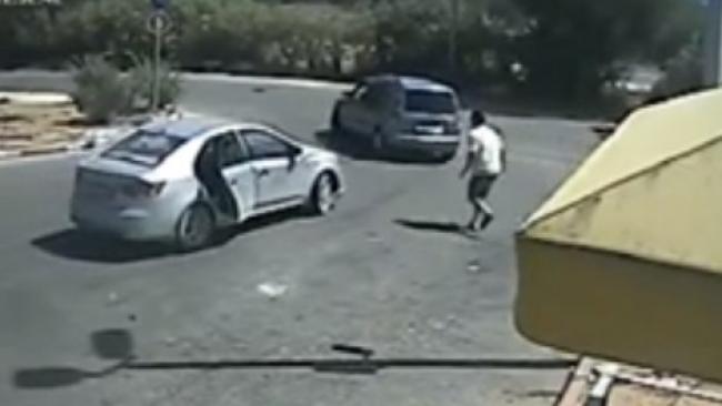 תיעוד: כך שדדו ערבים רכב בשומרון