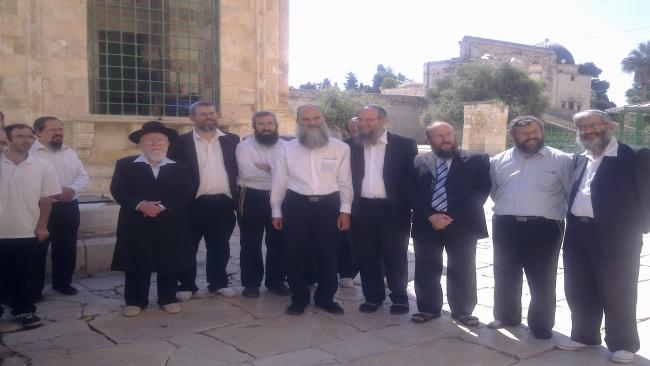 עליית רבנים להר הבית לקראת יום ירושלים