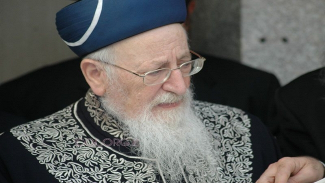 """הרב מרדכי אליהו בסיבוב השערים לחודש אדר ה'תשס""""ד"""