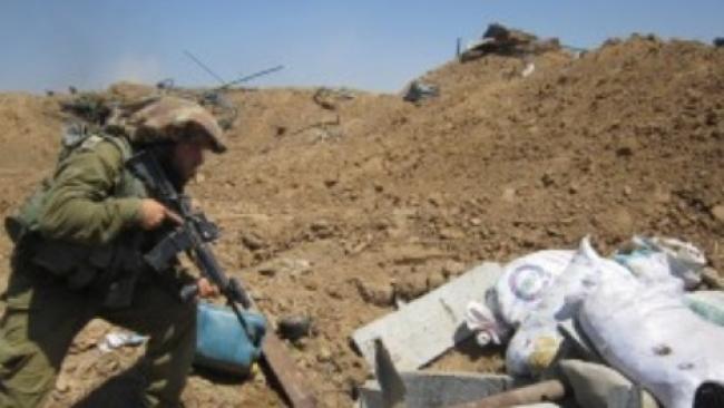הפצצת מנהרת טרור ברצועת עזה
